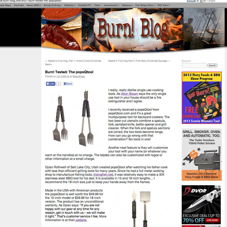 1st Review for Pops Q Tool from Ph.B BBQ Blogger !!