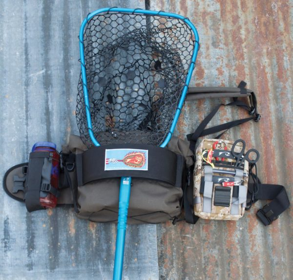 Lunker Net & Flask Pack on AllDay Pack