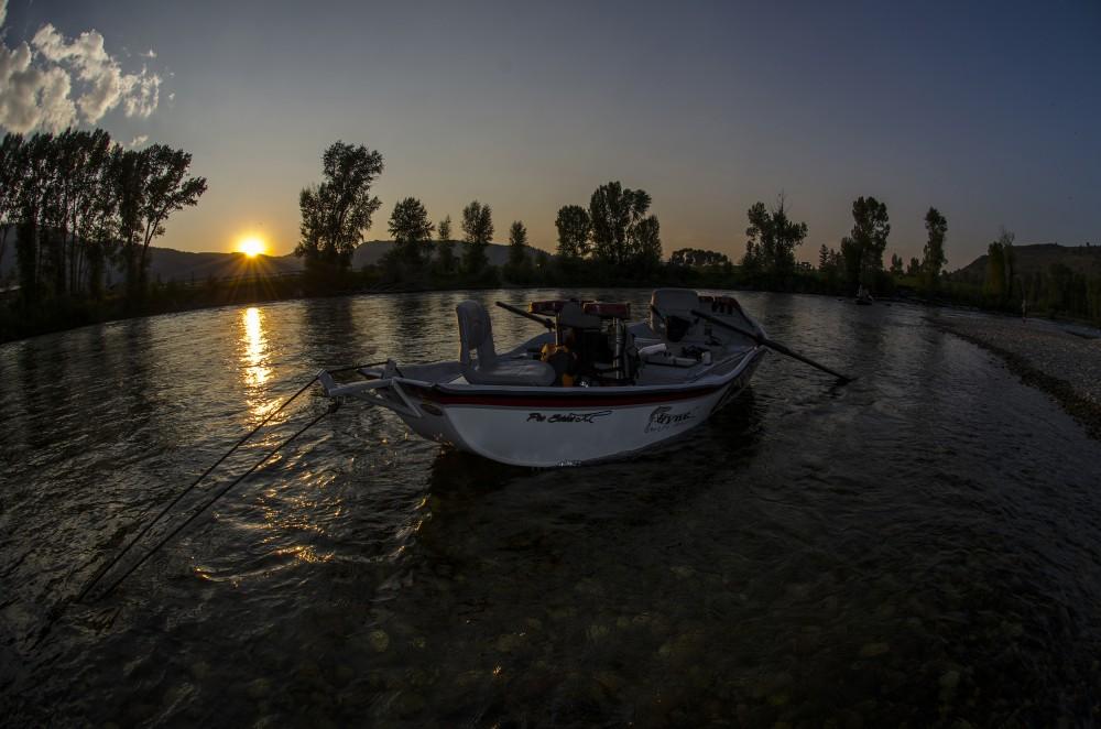 Sunset on the Snake River