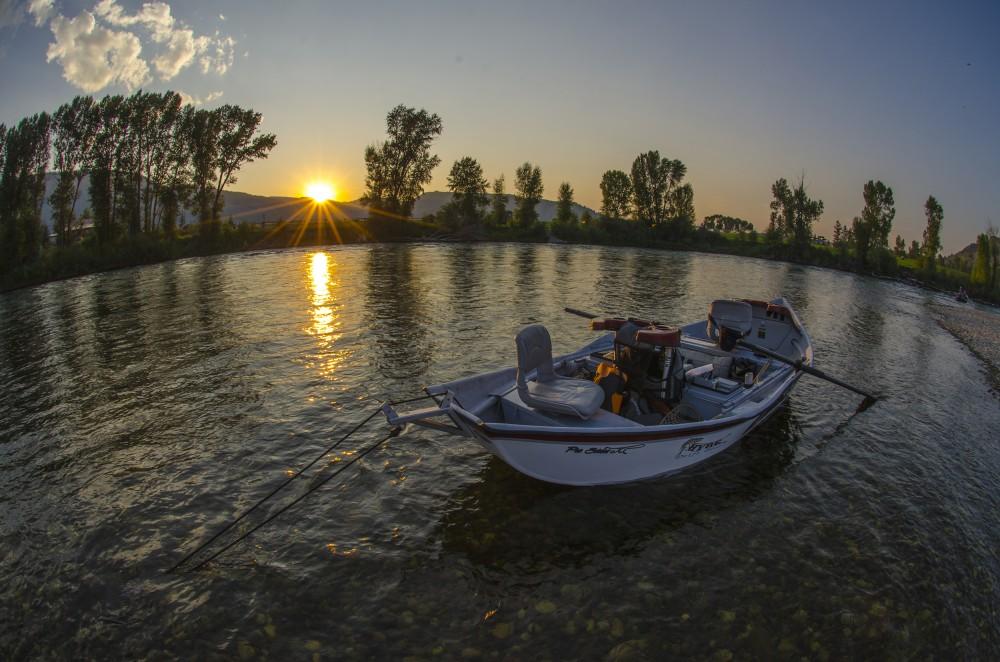 Sunset river shot
