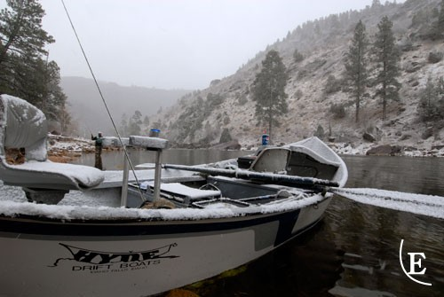 Best way to have the river to yourself – fish in the snow